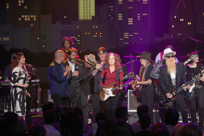 The stars align onstage at the Moody Theater for the Austin City Limits Hall of Fame ceremony. (Photo by Gary Miller, Courtesy KLRU-TV/Austin City Limits)