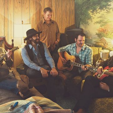 Sunset Motel Cowboys: Reckless Kelly, from left, is Cody Braun, Jay Nazz, Joe Miller, Willy Braun, and David Abeyta. (Courtesy Reckless Kelly)