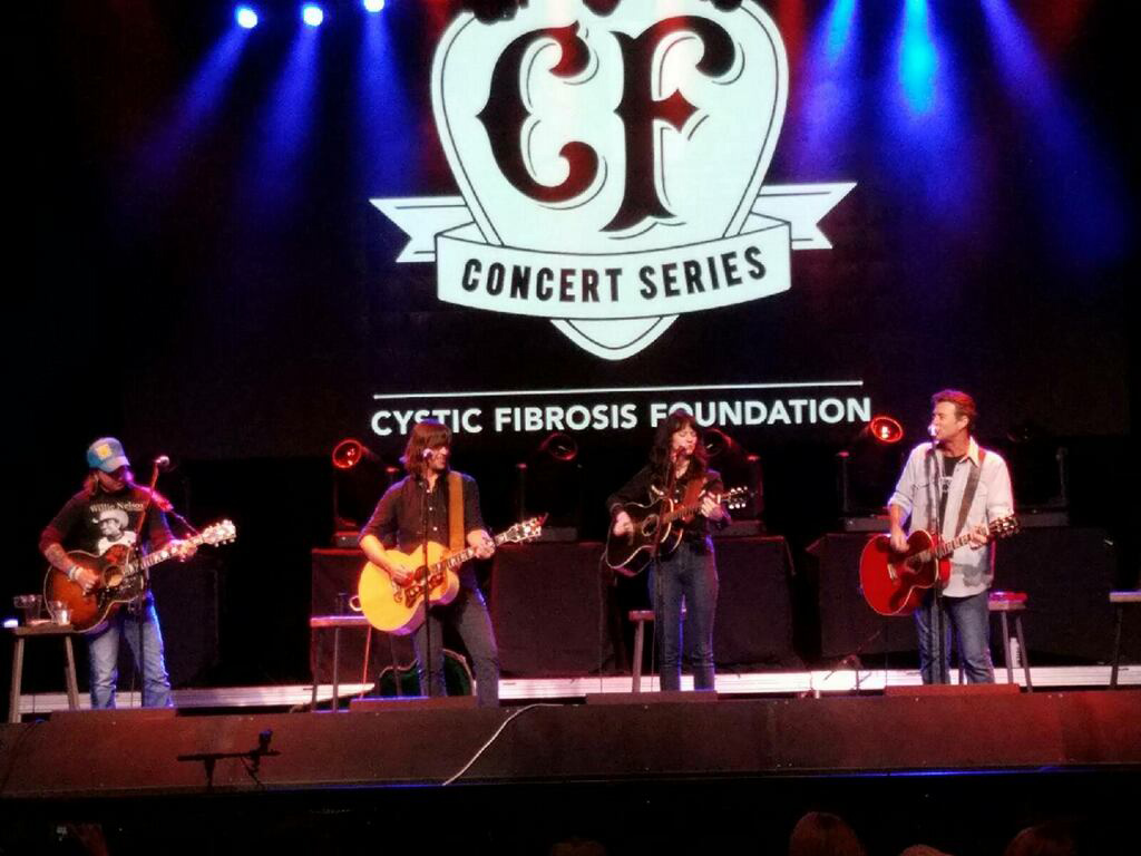 Cody Canada, Rhett Miller, Nikki Lane and Roger Clyne swap songs to fight Cystic Fibrosis. (Photo by Kelly Dearmore)