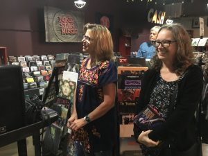 """Terri Hendrix and Tamara Saviano, author of """"Without Getting Killed or Caught: The Life and Music of Guy Clark."""" (Photo by Richard Skanse)"""