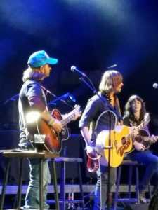 Cody Canada, Rhett Miller and Nikki Lane at Gas Light Live. (Photo by Kelly Dearmore)
