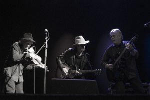 Mystery Men: (from left) Richard Bowden, Charlie Sexton and Lloyd Maines. (Photo by Nichole Wagner)