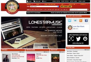 Our e-commerce site, LoneStarMusic.com.