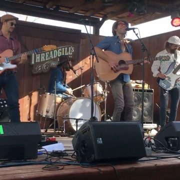 Austin's Shane Cooley & the Midnight Girls at the Lone Star Music / KOKE-FM Dillo Mixer at Threadgill's.