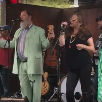 "Kevin ""Shinyribs"" Russell and crew delivering the good stuff at the Lone Star Music/KOKE-FM Dillo Mixer  at Threadgill's."