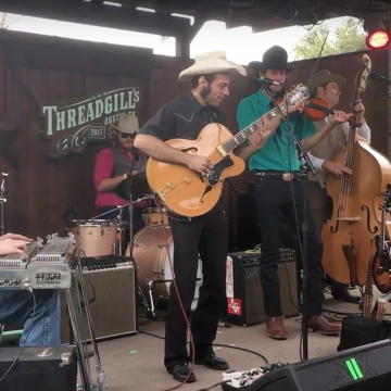 The Railhouse Band laying down some Western swing and jump blues at Threadgill's.