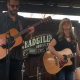 "Sunny Sweeney and guitarist Harley Husband serving up a ""Better Bad Idea"" at the LSM/KOKE-FM Dillo Mixer."
