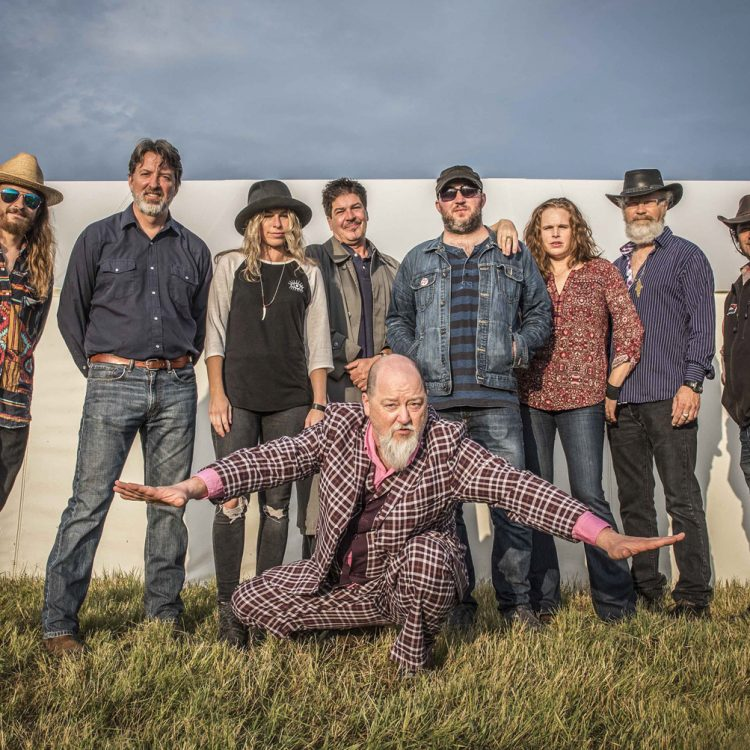 Merchants of Red-Eyed Soul: Kevin Russell and his medicine men (and women). (Courtesy Shinyribs)