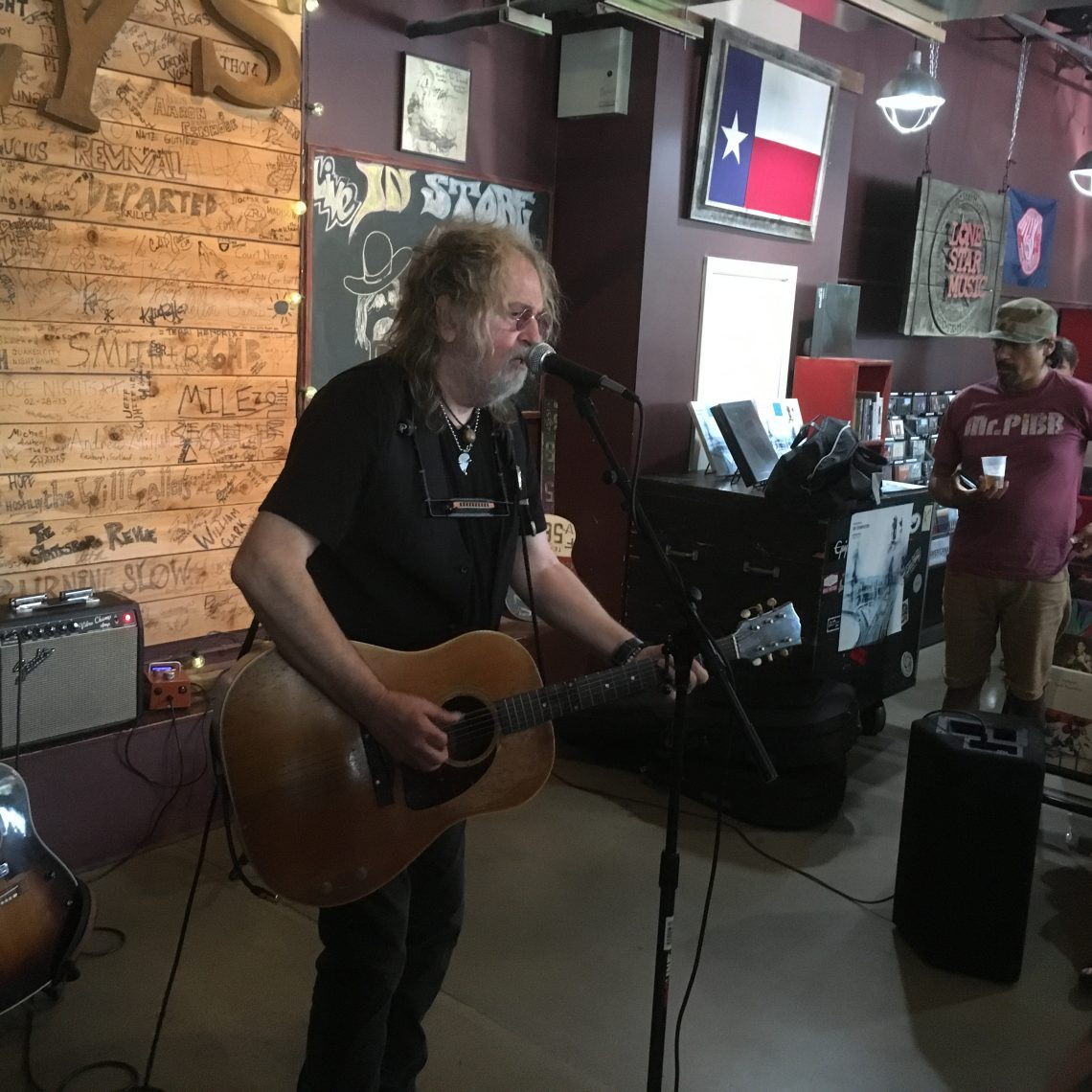 Ray Wylie Hubbard at Superfly's Lone Star Music Emporium on Aug. 14, 2017. (Photo by Richard Skanse)