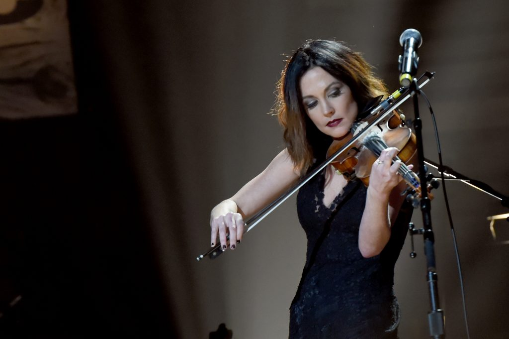 Emerging Artist of the Year winner Amanda Shires performing onstage at the Roman Auditorium. (Photo by Rick Diamond/Getty Images for Americana Music)