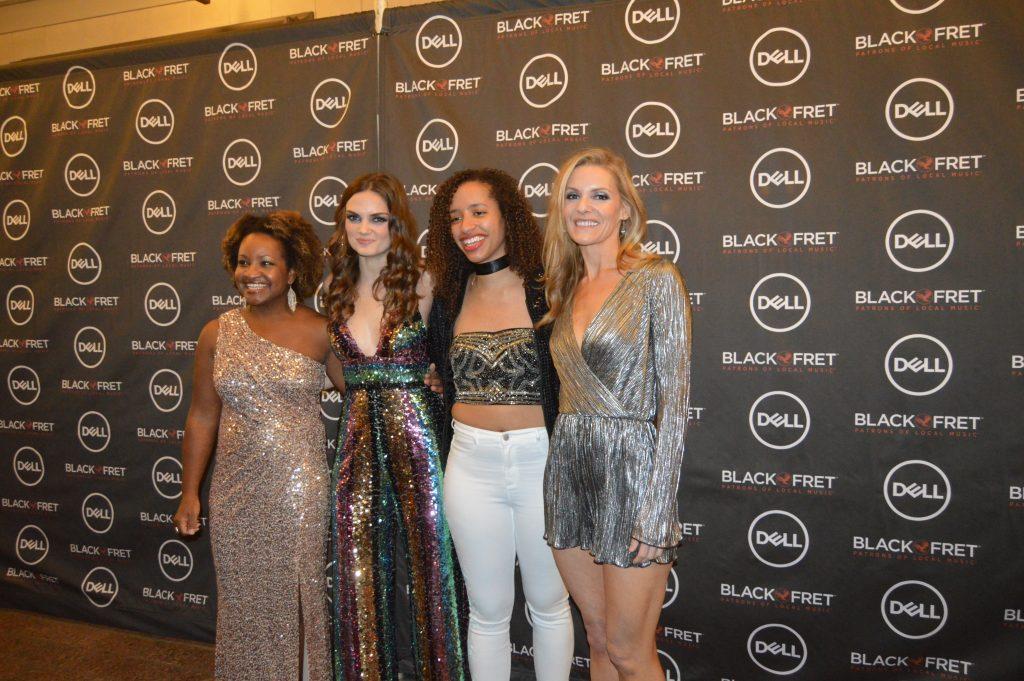 Black Fret nominees (from left) Akina Adderley, Jane Ellen Bryant, Jackie Venson, and Sarah Sharp (Photo by Richard Skanse)