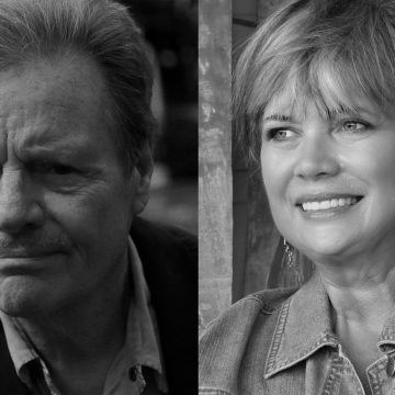 Delbert McClinton and his biographer, Diana Finlay Hendricks (Courtesy of Delbert McClinton/Photo by Kim Porterfield)