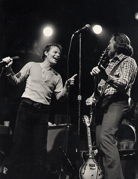 Delbert McClinton and Willie Nelson, livin' it up for your love back in the day. (Photo by Watt Casey)