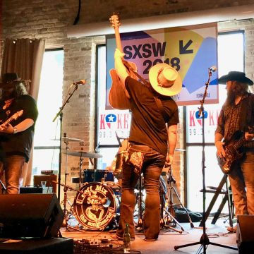 Austin's Copper Chief rocking Cooper's BBQ at the 2018 LSM/KOKE FM Dillo Mixer. (Photo by Richard Skanse)