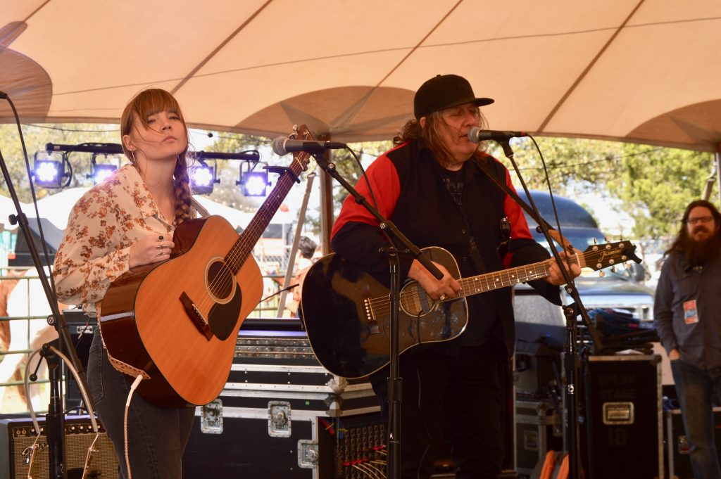 Courtney Marie Andrews and Kevin Kinney, swapping songs in the Revival Tent. (Photo by Richard Skanse)