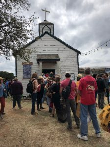 Going to the Chapel: The line outside for Ray Wylie Hubbard and friends. (Photo by Richard Skanse)