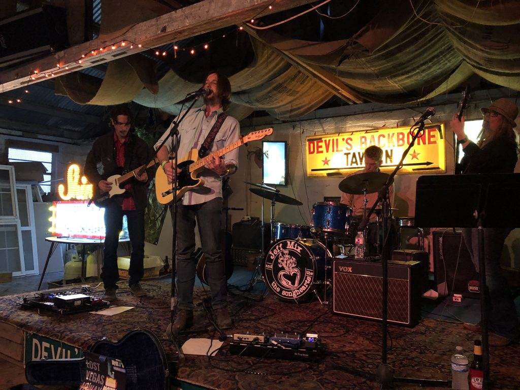 Back at the Backbone: Jeff Mix & the Songhearts at the Devil's Backbone Tavern on March 16, 2018. (Photo by Richard Skanse)