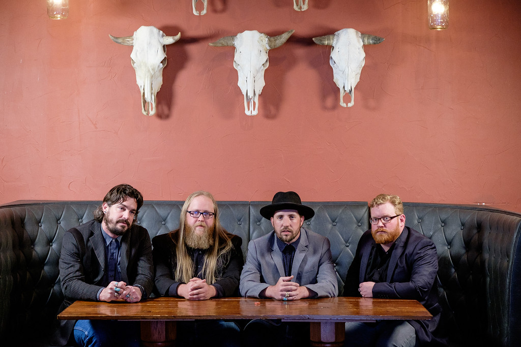 No Dry County is, from left, Bristen Phillips, Matt Newsom, Trent Langford, and Dub Wood. (Photo by Charlie Stout)