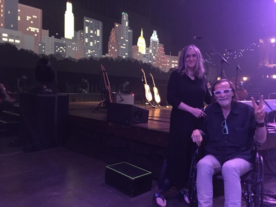 "Souvenirs: The author D.C. Bloom with partner Lynn Sky at the Moody Theatre for John Prine's ""Austin City Limits"" taping in early June. (Photo courtesy of D.C. Bloom)"