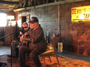 """Jon Dee Graham and Mike Hardwick playing the first """"Devil's Revival"""" Sunday on Oct. 21. (Photo by Richard Skanse)"""