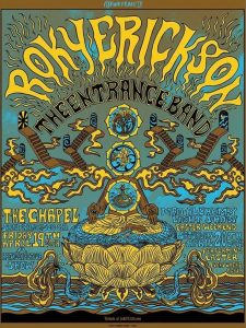 "The poster for Roky Erickson's last two shows — including the Easter Eve performance of the 13th Floor Elevators' ""Easter Everywhere"" — at the Chapel in San Francisco."