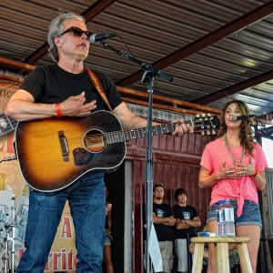 Radney Foster and Kylie Rae Harris performing together at the 2012 Larry Joe Taylor Texas Music Festival in Stephenville. (Photo by Dave Hensley)
